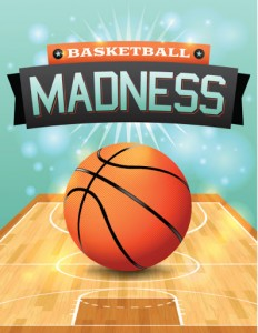 march madness viewing party flyer